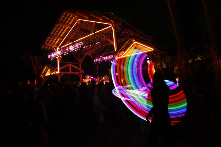 FloydFest at night...