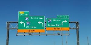 Sans Serif on Highway sign