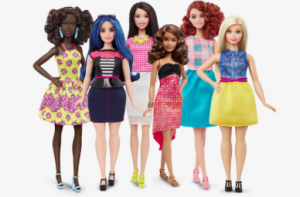 The new line of Barbies include dolls of all different types.