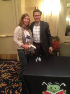 Jenny Larson and author David Baldacci