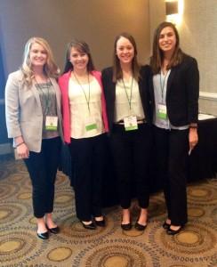 Amanda Haynes, Lauren Flood, Megan Crowe and Millie Kidder-Goshorn presenting at the VSRA