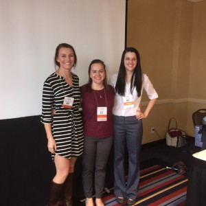 "Sarah Wells, Lindsey McGibbon, and Alexa Russell after presenting ""Loving Literacy: Keeping Kids Konnected"""