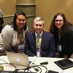 Kelsey Dunbar and Joyanna Struzzieri had the opportunity to meet author and AAC user Martin Pistorius after his presentation.