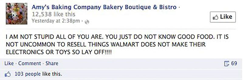 Meltdown on Social Media: Amy's Baking Company Meets