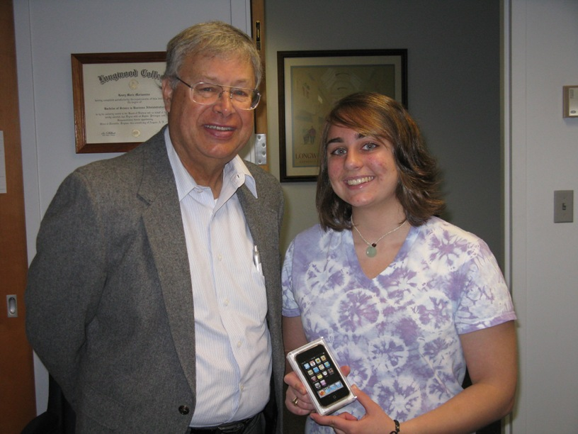 Suzanne Locascio and Dean of the Library, Wendell Barbour