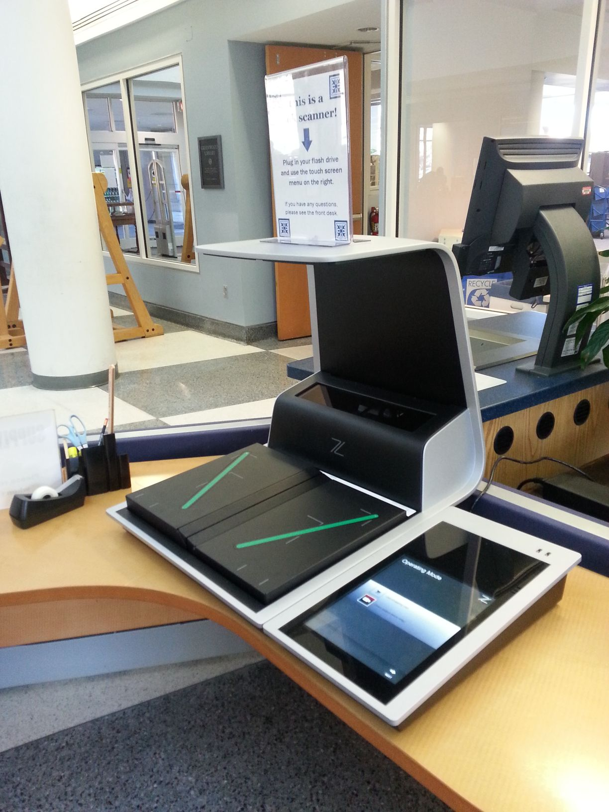 How to: Use the new book scanner | Longwood University Library