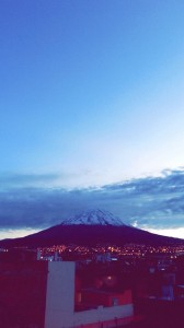From my house in Arequipa, I have a great view of the Misti volcano! The Misti is one of the three inactive volcanoes we have in my city.