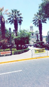 The Main Plaza at downtown Arequipa