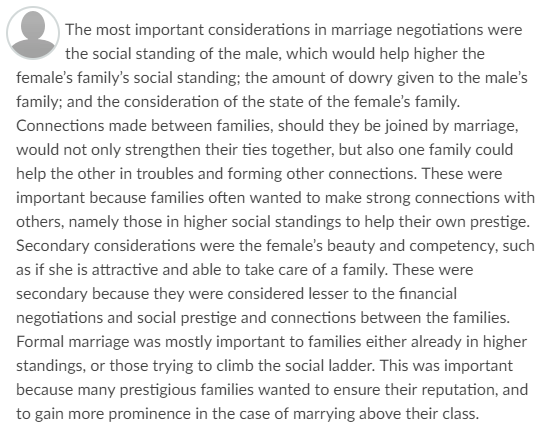 graded response critique of a marriage Marriage and family  learn and critique different theoretical perspectives that focus on  post an initial comment/response to my prompt using start a new.