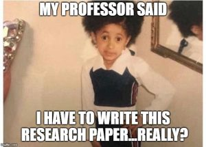 meme about research papers being boring