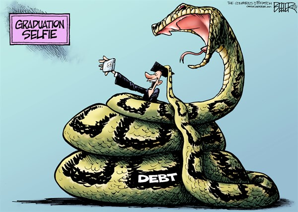 post visual arguments exploring visual rhetoric post  here the reality of college loans and debt is magnified and exaggerated as a visual metaphor into a giant constricting snake about to swallow the graduate