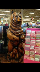 This picture, taken in Albertson's grocery store in Jackson, Wyoming, is a great example of how popular grizzly bears are in the area.